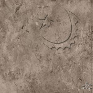 Etched Moon iPad Wallpaper